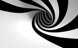 3d view abstract black and white minimalistic hole zebra stripes wallpaper
