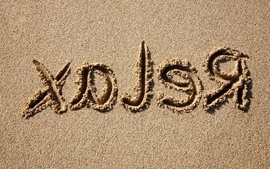 Beach relax sand typography wallpaper