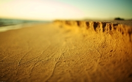 Beach sand depth of field wallpaper