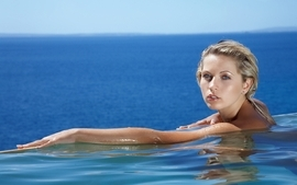 Blondes women water jenni gregg swimming pools wallpaper