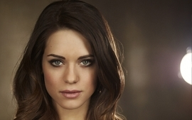 Brunettes women closeup eyes actress long hair celebrity lyndsy wallpaper