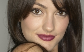 Brunettes women closeup long hair minka kelly faces wallpaper