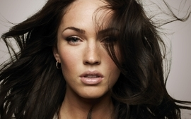 Brunettes women closeup megan fox blue eyes wallpaper