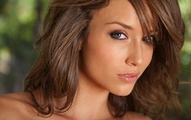 Brunettes women photography models brown malena morgan faces wallpaper