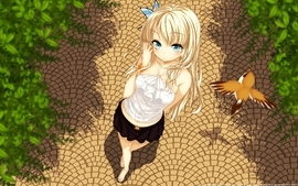 Butterfly blue eyes boku wa tomodachi ga sukunai blonde wallpaper