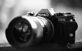 Cameras grayscale canon wallpaper