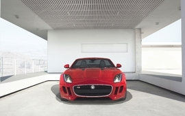 Cars front vehicles red cars 2014 headlights jaguar f type wallpaper