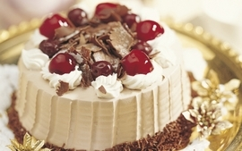 Chocolate food sweets candies desserts cherries cakes icing wallpaper