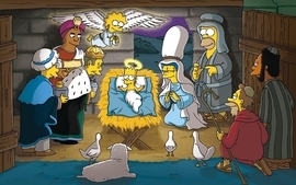Christmas the simpsons christian tv series wallpaper