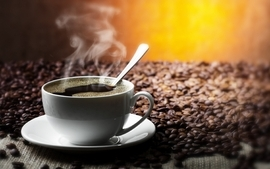Coffee coffee beans coffee cups wallpaper