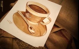 Coffee drawings wallpaper