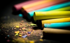 Colorful crayons macro colors wallpaper
