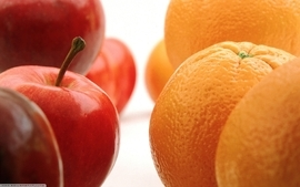 Fruits oranges apples wallpaper