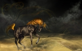 Horses artwork wallpaper
