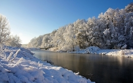 Landscapes nature winter snow 2 wallpaper
