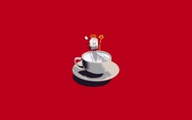 Minimalistic tea humor funny wallpaper