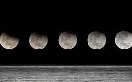 Moon eclipse moon phases wallpaper