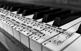 Music piano monochrome wallpaper