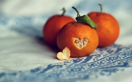 Oranges hearts wallpaper