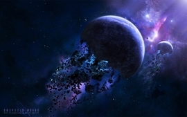 Outer space explosions planets asteroids space wallpaper