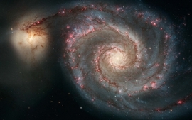 Outer space galaxies 4 wallpaper