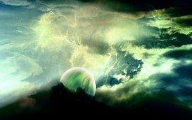 Outer space planets science fiction wallpaper
