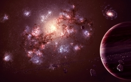 Outer space stars planets 2 wallpaper