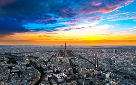 Paris clouds cityscapes wallpaper