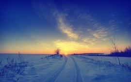 Sunsets landscapes nature winter snow skyscapes wallpaper
