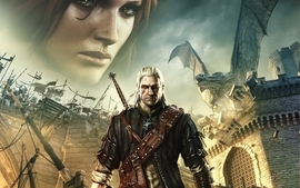Video games dragons the witcher geralt of rivia the witcher 2 wallpaper