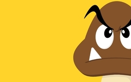 Video games minimalistic mario goomba wallpaper