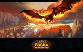 Video games world of warcraft deathwing cataclysm fan art wallpaper