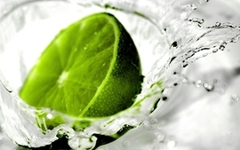 Water citrus fruits limes splashes wallpaper