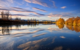 Water lakes skyscapes wallpaper