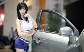 Women cars models asians korean wallpaper