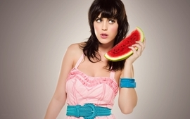 Women katy perry fruits watermelons singers wallpaper