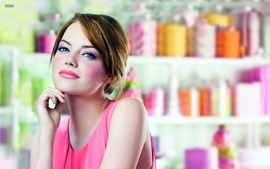 Women redheads emma stone lipstick makeup wallpaper